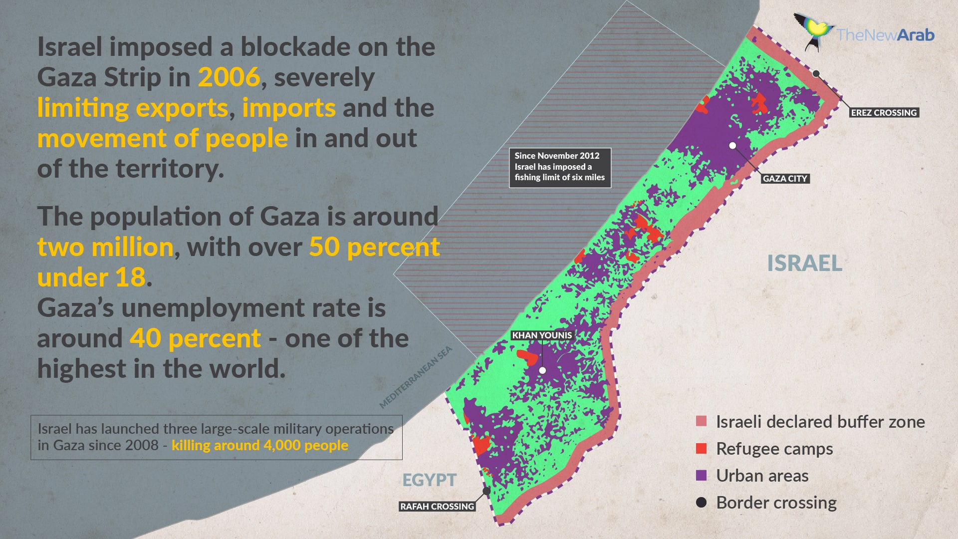 A detailed map of Israel's siege of Gaza