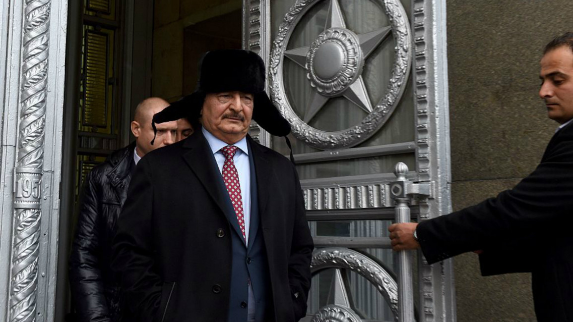 Haftar visits Russia