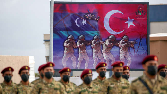 Libyan military graduates loyal to the UN-recognised Government of National Accord (GNA) take part in a parade marking their graduation, a result of a military training agreement with Turkey. [Getty]