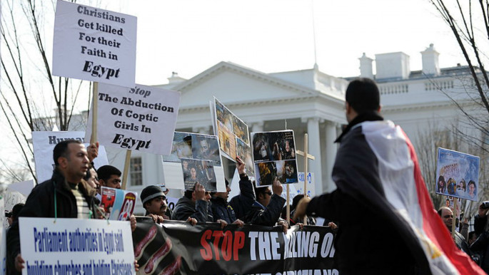 Copts hold rally outside the white house