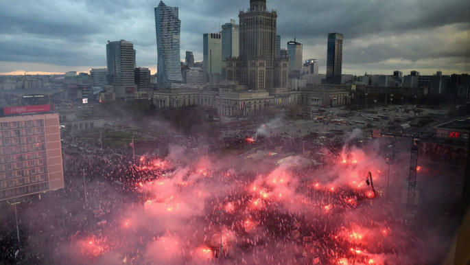 """Polish fascists celebrate independence day and call for """"an Islamic Holocaust""""  [Twitter]"""