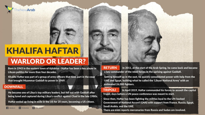 Khalifa Haftar has been at the centre of Libya's armed conflict in recent years