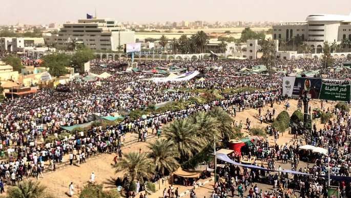 'Millions' of Sudanese protesters began gathering outside the Army General Command in Khartoum on Saturday [Anadolu]