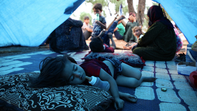 'Mum, I don't want to die': Syrians flee Idlib for miserable displacement camps