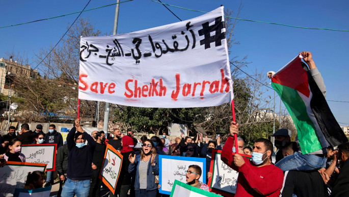 More than 550 Palestinians in Sheikh Jarrah risk being forcibly evicted. [Getty]