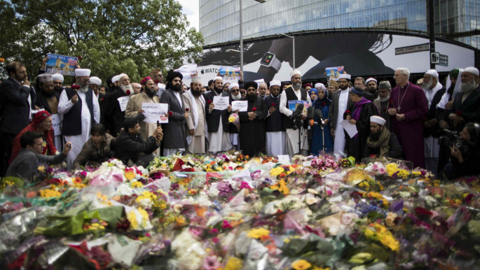 Imams gather to condemn the London Bridge terror attack June 2017 - Muslims are often required to condemn the actions of terrorists [Getty]