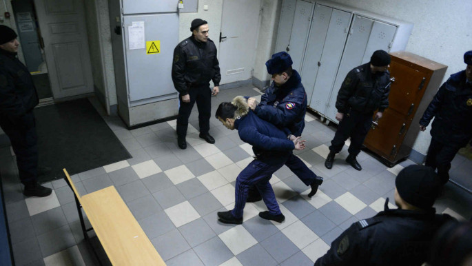 Terrorism suspect captured by Russian police [Getty]